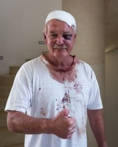 Charles Back was hit with a crowbar, rolled into a carpet and left for dead in February.