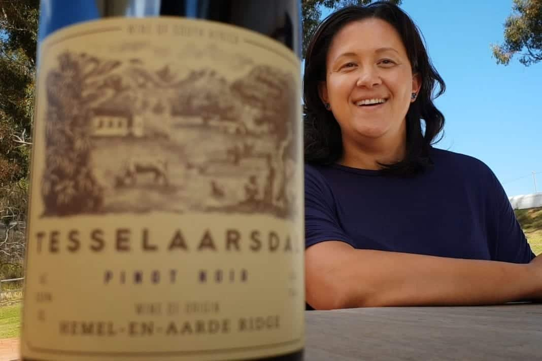 Berene Sauls, owner and winemaker of Tesselaarsdal Wine