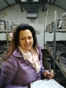 Wilmaré Lotz, owner and manager of Boland Mushrooms