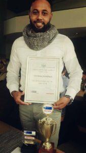 Tawfeeq Brinkhuis, Durbanville Regional Prestige Agri Worker Award winner.