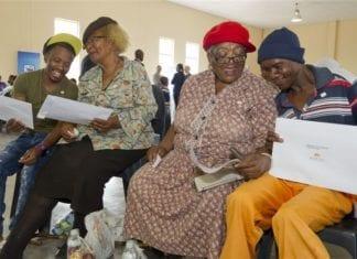 """Khaya Lam (""""My Home"""") Land Reform Project presentation in Kwakwatsi, Free State."""