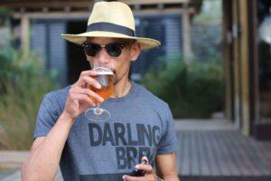 Ivor Swartz also known as Die Kleurlingbierman (Coloured Beer Man).