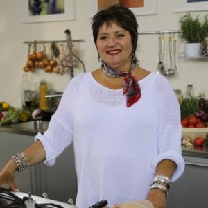 """Celebrity TV chef Jenny Morris, also known as """"The Giggling Gourmet""""."""