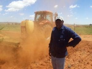 Soil preparation on Tsotetsi's farm in Kestell, Free State.