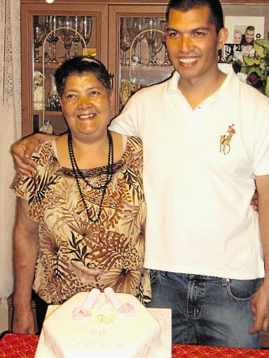 Celebrity chef Reuben Riffel and his late mother, Sylvia. Photo: Supplied