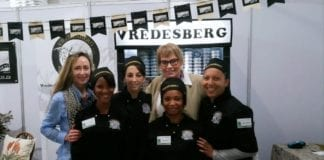 From left to right: Lizma van Zyl, Ruby-Ann Sampson, Karen van der Merwe, Geraldine Heugh, Zelda le Grange and Monica Banda at 2018 SA Cheese Festival.