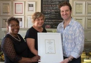 Nellie Fischer, Jolette Wilmot (General Manager), John Farrand (MD Guild of Fine Food UK, Owners of World Cheese Awards).