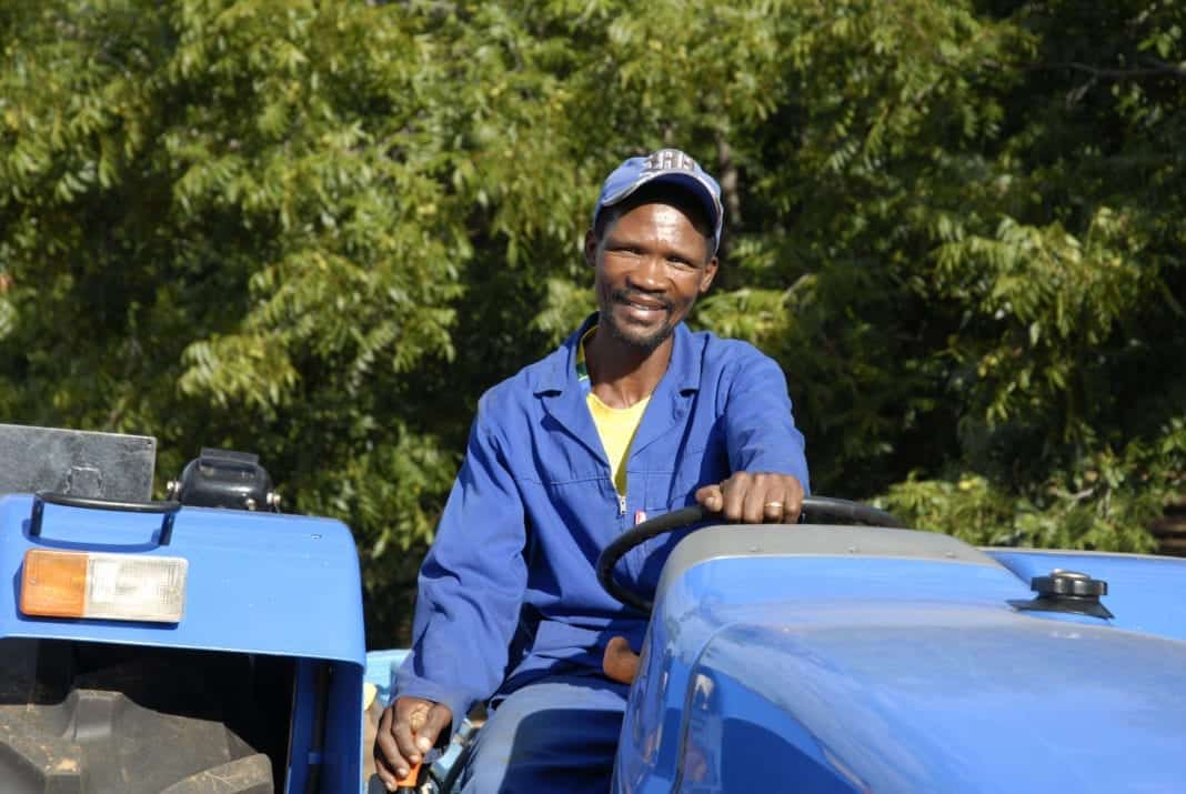 Willem Nkosi, a agri worker worker on a pecan farm in the Northern Cape Province, 2008.