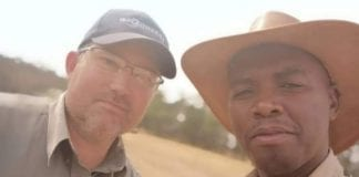 Hlony Radebe (right) credits mentor Friedl von Maltitz for his farming success.