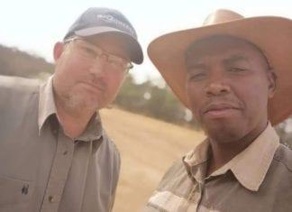 Hlony Radebe (right) credits mentor Friedl von Maltitz for his farming success.