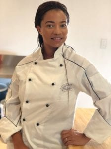 Chef Naledi has been cooking since a she was young.