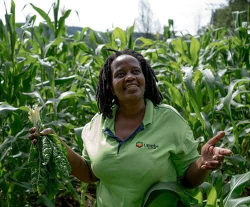 Nonhlanhla Joye, the founder and director of the Umgibe Farming Organics and Training Institute. Photo: Supplied