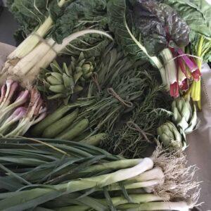 Siyabonga Mngoma's organically produced vegetables.