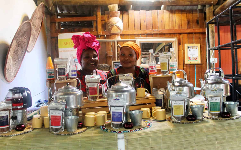 Nondumiso Phaahla, 56 and her daughter Retang Phaahla, 26, at the Bryanston organic market.