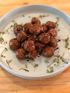 Chef Naledi prepared one of her mouth-watering meatball recipes.
