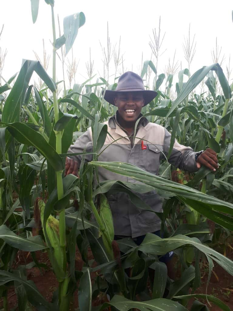 Food security: Growing up in a rural community, African farmer Sinelizwi Fakade always felt passionate about farming.