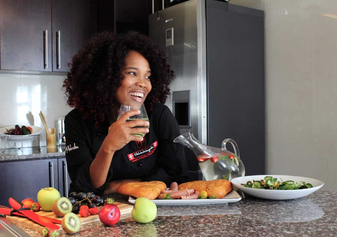 Chef Pholosho Matondolo runs her own catering business and created her own homemade ice-cream, Emonate.