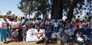 Thusong Projects food hamper donation to meals on wheels beneficiaries in the Vaal area.