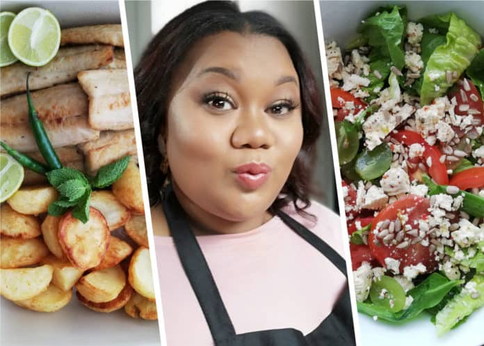 Lee Duru has always loved spending time in the kitchen preparing food for family gatherings with her mother and aunts. Duru has prepared pan-fried snoek paired with a salad, roast potatoes and vegetables.