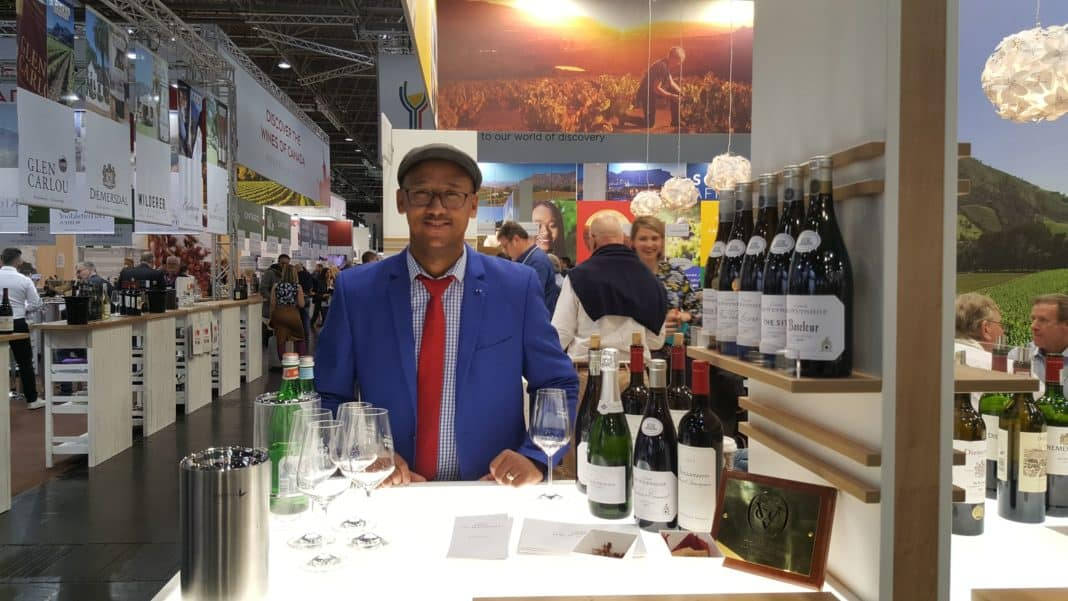 WineFARMacist, Heinrich Bothman in Düsseldorf in Germany for the 25th edition of the ProWein trade fair in 2019.
