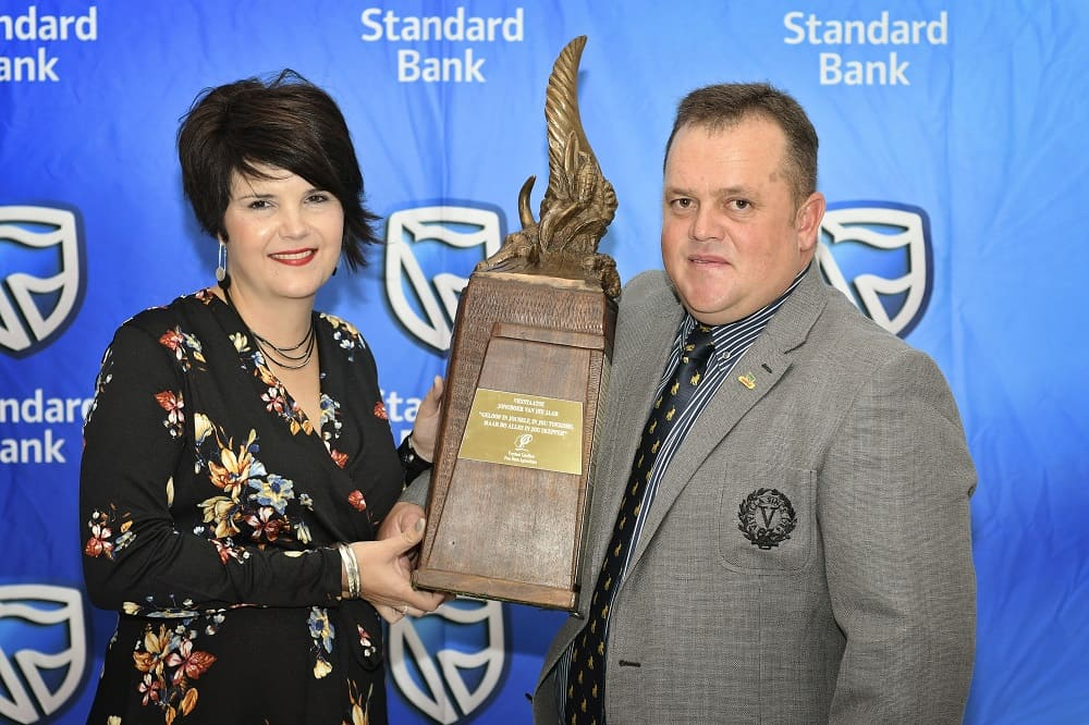 Free State Agriculture's 24th Young Farmer of the Year Herman Janse van Rensburg and his wife Huibrè.