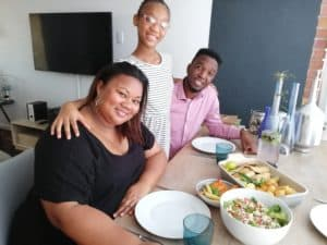 Lee loves spending time with her daughter Elah and husband, Lesego.