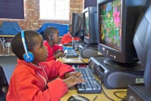Learners as young as 5 years old are offered computer lessons.