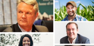 Food For Mzansi Bloemfontein agricultural Power Talk panellist, Gerhard Kriel, Mosele Lepheane, Henk Harmse Dr Frikkie Maré and Dr Ina Gouws.