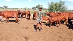 19-year-old Thabo Dithakgwe is one of South Africa's youngest farmers.