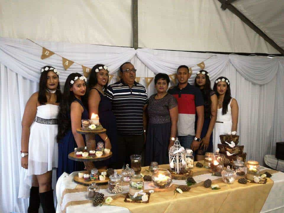 To Naiker family means everything and here she's pictured with her parents and siblings From left to right: Divashni (sister), Bivashni (sister), Simmeshni (sister), Selvan (father), Sushie (mother), Keegan (brother), Kireshni and Derishni (sister) Naiker.