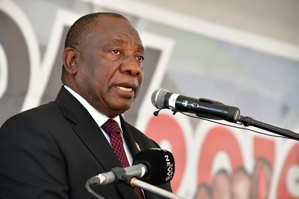 President Cyril Ramaphosa at the 2019 election results announcement at the Tshwane events centre in Pretoria.