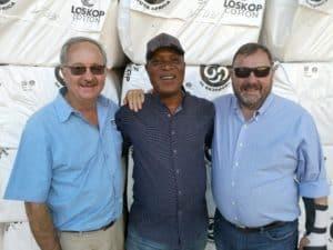 Joseph Kempen, Loskop Cotton Gin CEO (SA), Dr Lawrence Owoeye Senior Research Manager, IIC-ARC (SA) and Mr. Kai Hughes, Executive Director International Cotton Advisory Committee (USA).