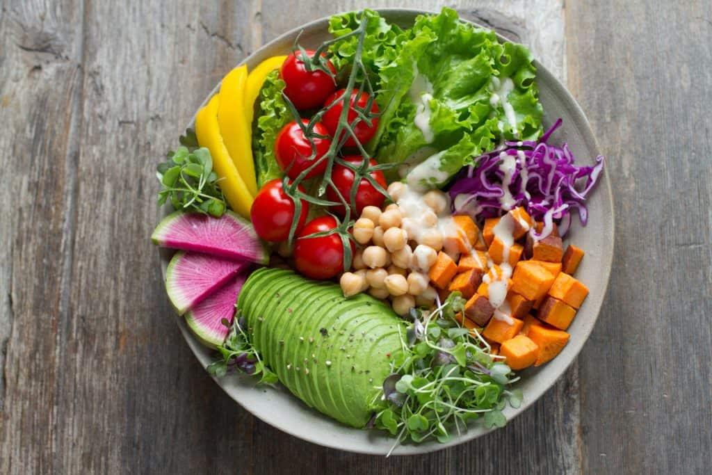Fresh vegan salad