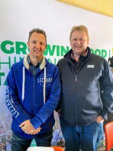 Food For Mzansi co-founder Kobus Louwrens with Johan Mellet from MSD Animal Health.