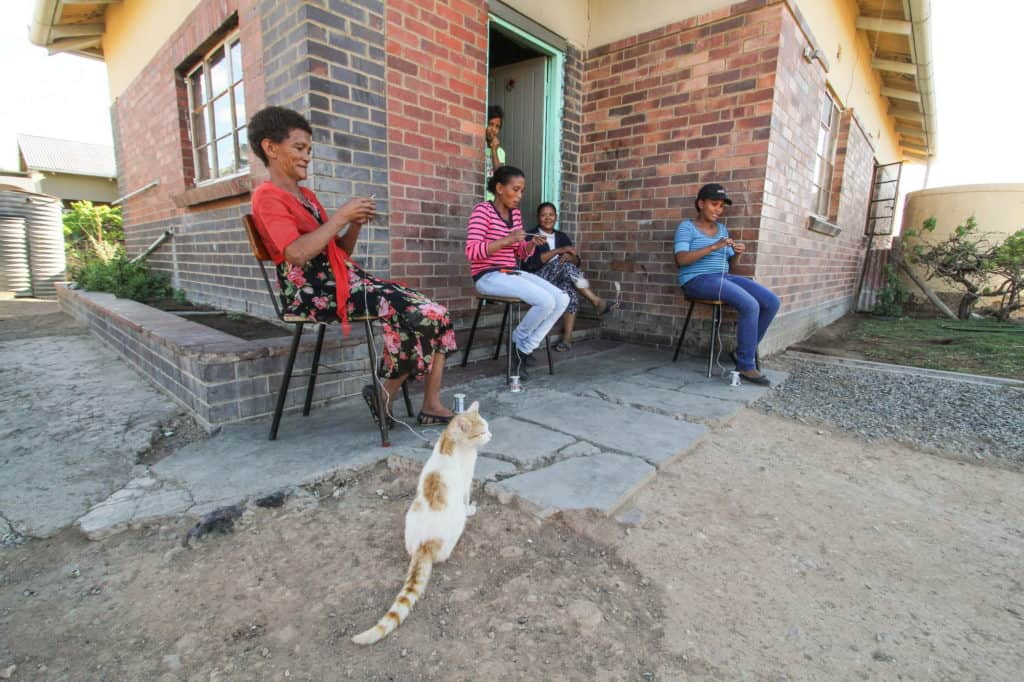 Quite often the Vondeling Optel Crafters work from home (many of their homes are old railway houses. Here are Trudi Hobanie, Veronica Olyn, Charlene Daniels and Janine Hobanie. Photo: Chris Marais