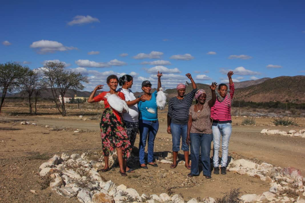 There is an angel factory in the Karoo, and these are some of the angelmakers. From left to right, Trudi Hobanie, Charlene Daniels, Janine Hobanie, Valenta Martin, her mother Violet Martin and Veronica Olyn. Photo: Chris Marais