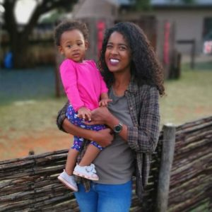 Christin-Joy Middleton and her daughter Ekaria-Halo.