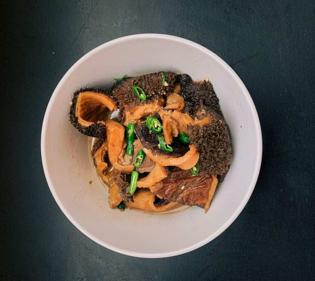 Self taught cook and food blogger Vanessa Dossi's slow cooked tripe.