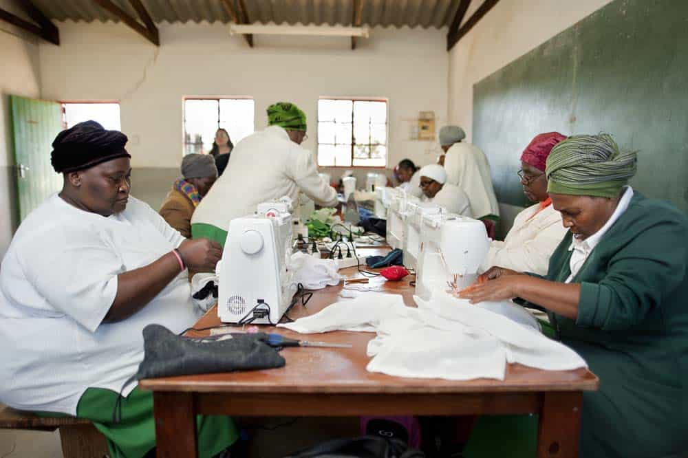 Apart from the gardens the grannies have other activities like sport and sewing classes.