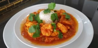 Chef Zana's Durban Style Prawn Curry.