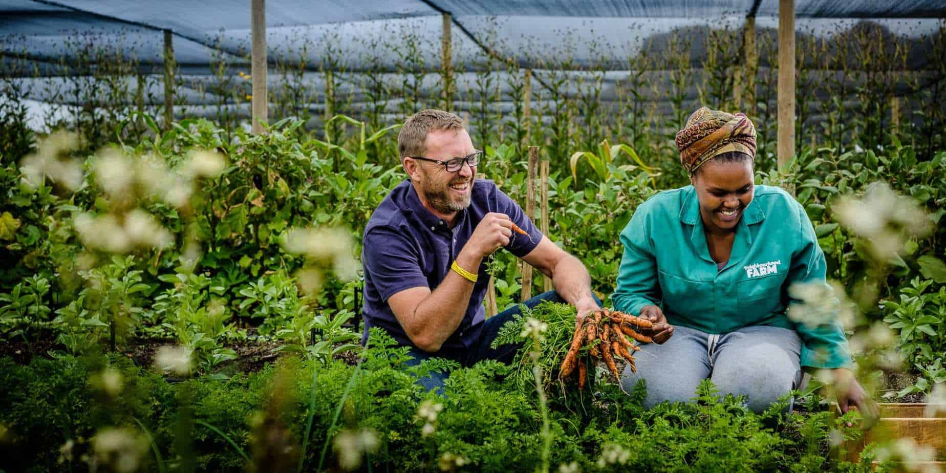 Justin Bonello (right) founded Neighbourhood Farm to