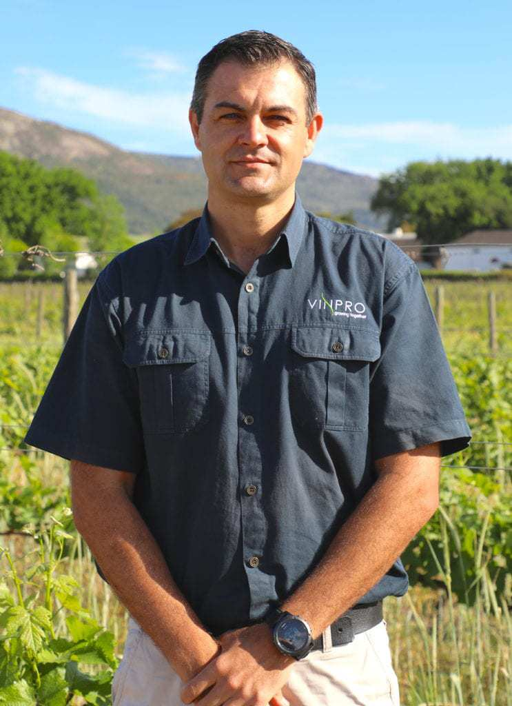 Vinpro consultation service manager Conrad Schutte. Photo: Supplied/Food For Mzansi