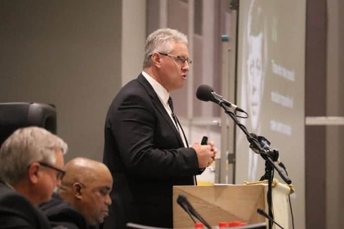 Agri SA president Dan Kriek addressing delegates at the organisation's congress in Pretoria.