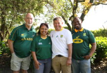 Farmers support the springboks for the 2019 rugby world cup