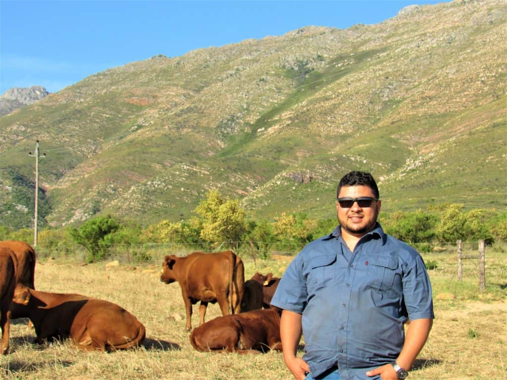 Gary Patience and his mother Therecia farms livestock on their 50-year-old family farm, GT Agri Group in Saron, Western Cape. They've been so without any government funding.