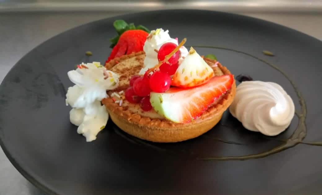 27-year-old chef shares his modern-day twist on a South African classic, perfect for summer: a lekker milk tart with lush cinnamon Chantilly cream.