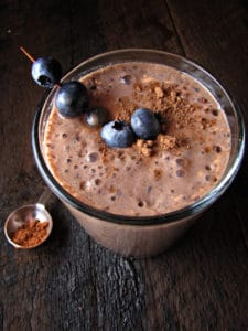 Blueberry & Cocoa Smoothie.