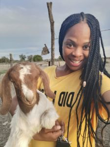 Kagelelo Matlala is a poultry and goat farmer in Kuruman in the Northern Cape