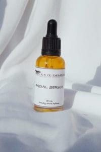 Olwethu Yekwani's skincare range serum.