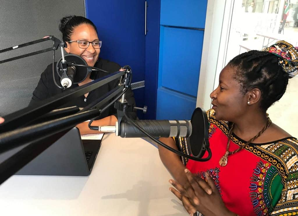 Farmers from across South Africa are featured on the Farmer's Inside Track podcast. Pictured are Food For Mzansi's Dawn Noemdoe with urban farmer Sibongile Cele. Photo: Food For Mzansi